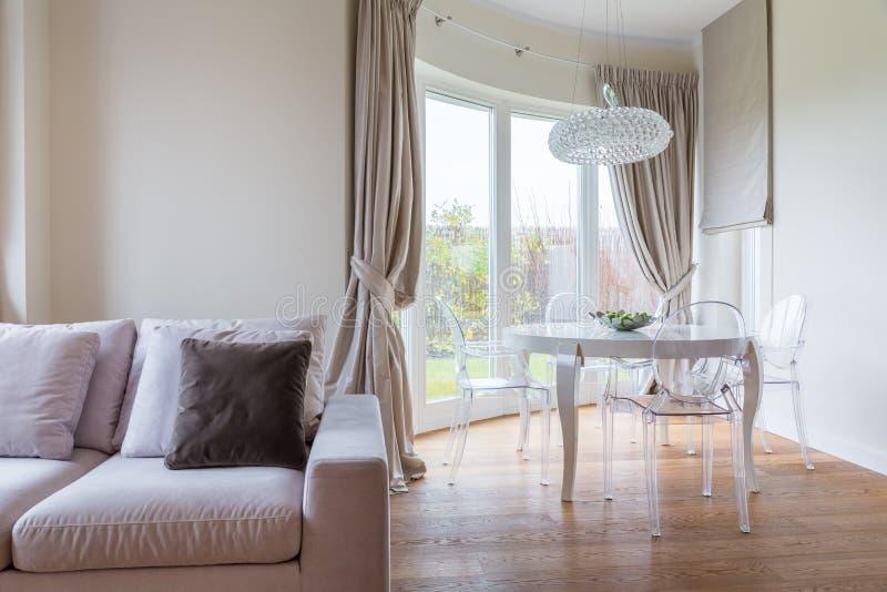 Żywy pokój z łomotać przestrzeń obraz royalty free