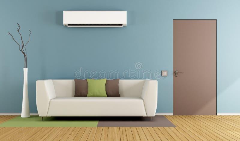 Żywy pokój z lotniczym conditioner ilustracja wektor