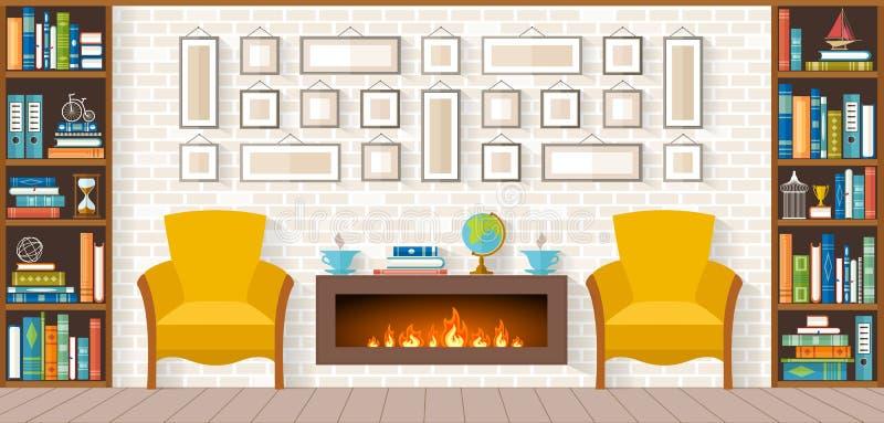 Żywy pokój z meble royalty ilustracja