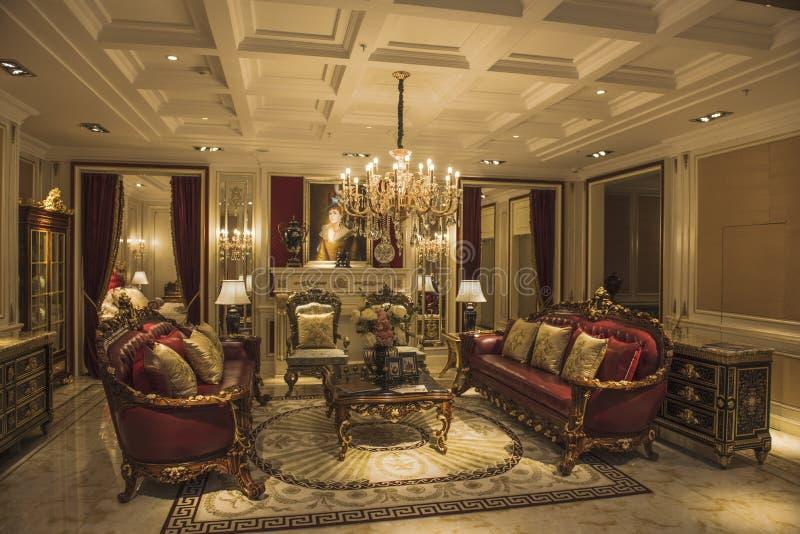 Żywy pokoju modela pokój fotografia royalty free