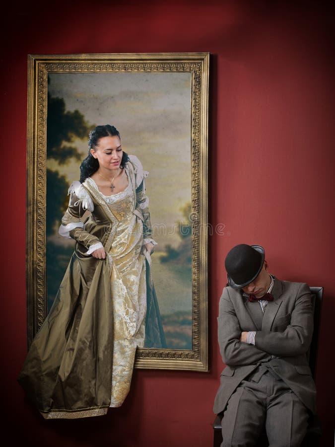 Żywy portret zdjęcie royalty free