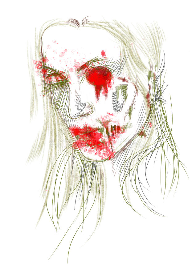 Download Żywy trup ilustracja wektor. Obraz złożonej z śmierć - 26095039
