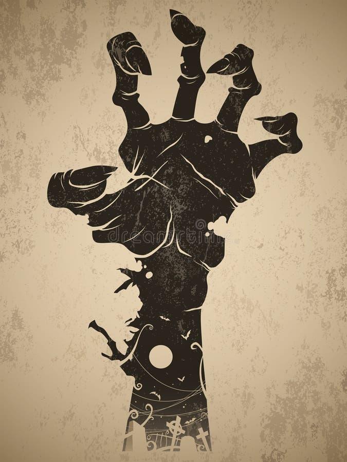 Żywy trup ręka ilustracji