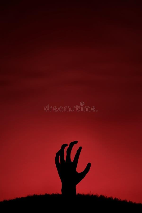 Żywy trup ręka przychodzi up zdjęcia stock