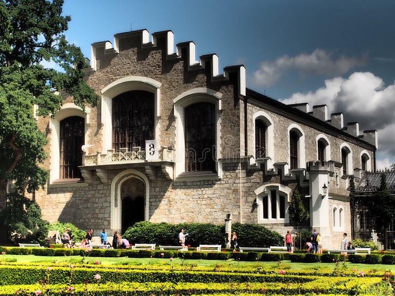 Zámek Hluboká nad Vltavou 2016 Czech Rep. The most important neo-gothic building of the Czech Republic , inspired by the English royal Windsor Castle stock photo
