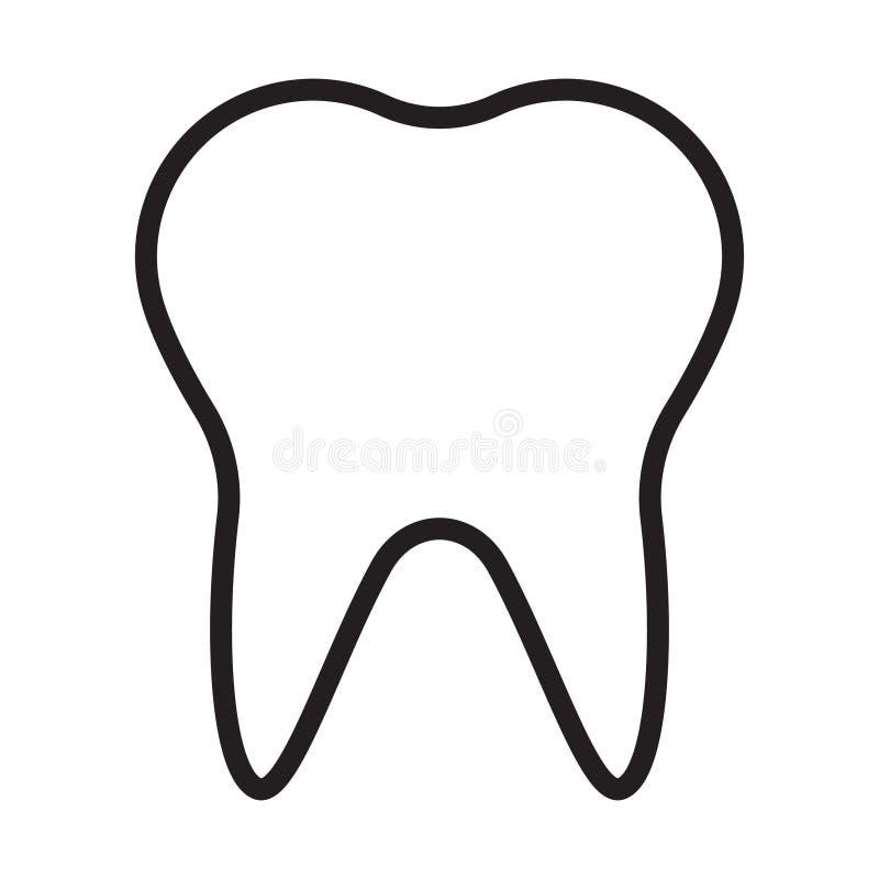 Ząb ikony kreskowy wektor ilustracji