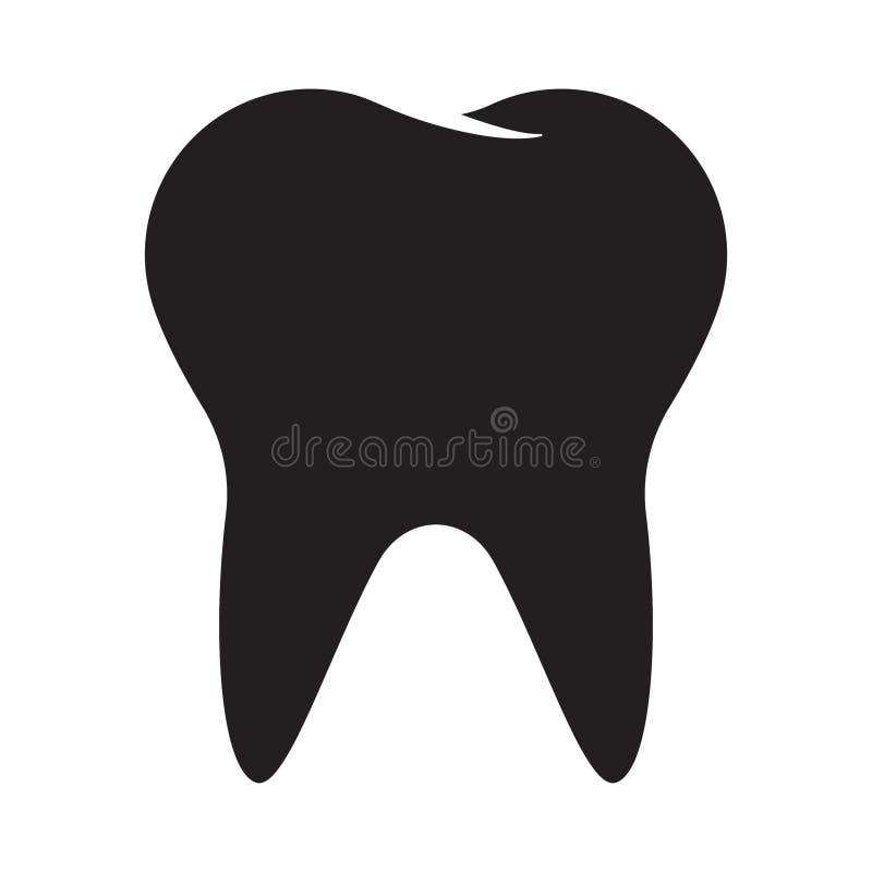 Ząb ikony wektor ilustracji