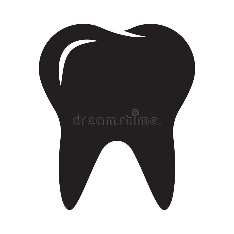 Zębu wektoru ikona ilustracja wektor