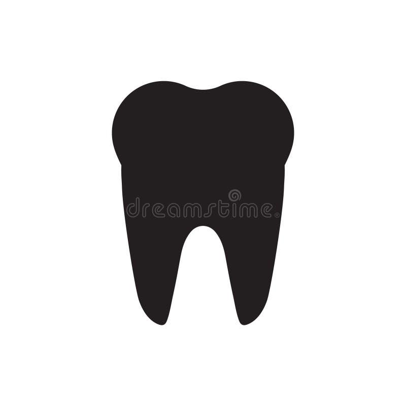 Zębu wektoru ikona ilustracji