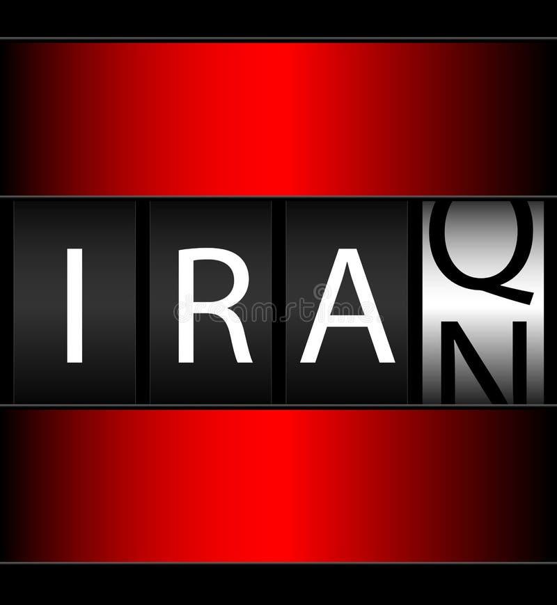 Zähler-Börsentelegraf des Iraks der Iran lizenzfreie abbildung