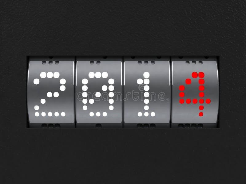 Zähler des neuen Jahres 2014 vektor abbildung