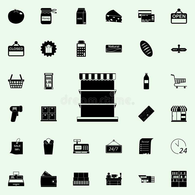 Zähler für Produktikone vermarkten Sie Ikonenuniversalsatz für Netz und Mobile stock abbildung