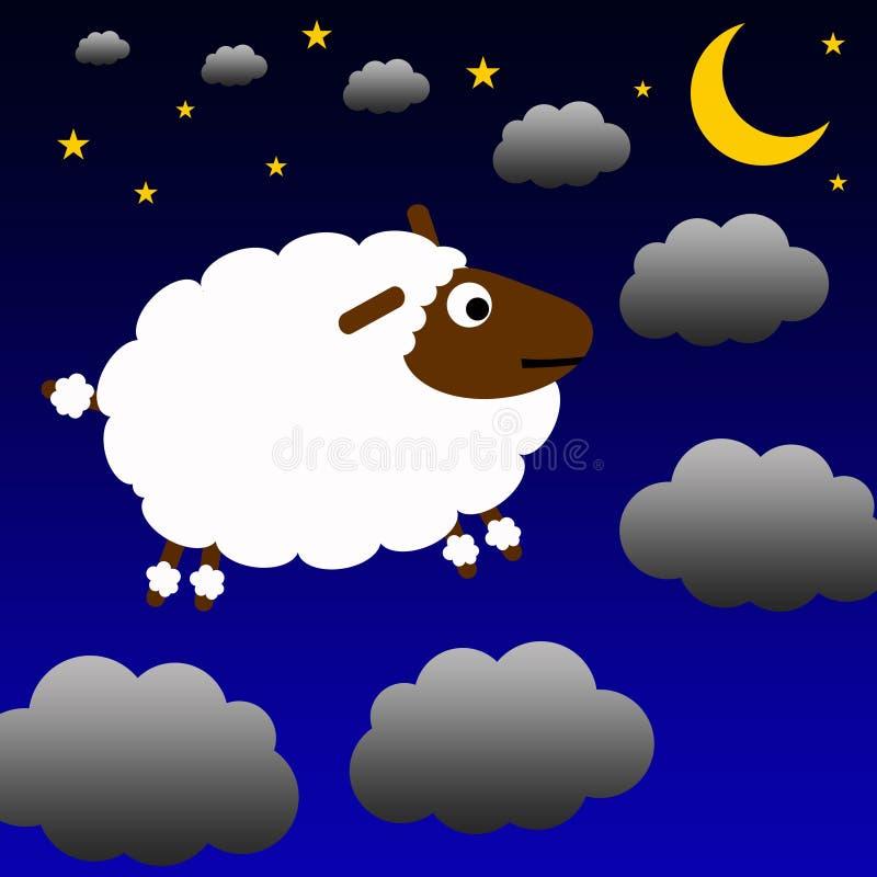Zählung der Schafe lizenzfreie abbildung