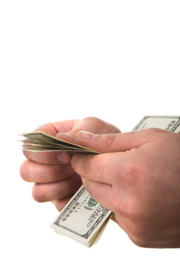 Zählung des Geldes stockbilder