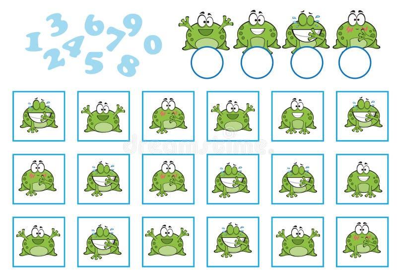 Zählung des Spiels für Vorschulkinder Pädagogisch ein mathematisches Spiel vektor abbildung