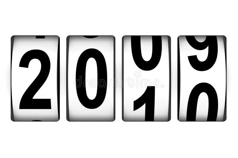 Zählwerk des neuen Jahres stock abbildung