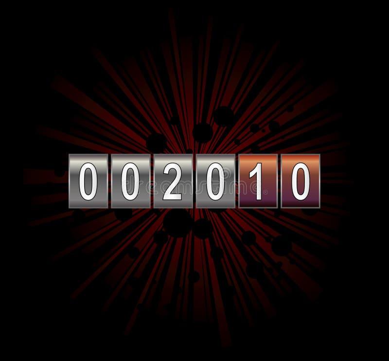 Zählwerk des neuen Jahres vektor abbildung