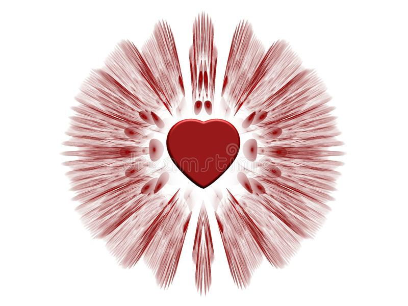 Złamanego serca uczucie w czerwieni ilustracji