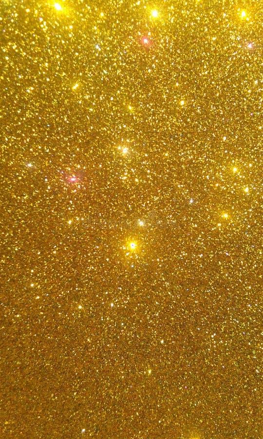 Złota błyskotliwość textured tło, Jaskrawa piękna olśniewająca złota błyskotliwość ilustracja wektor