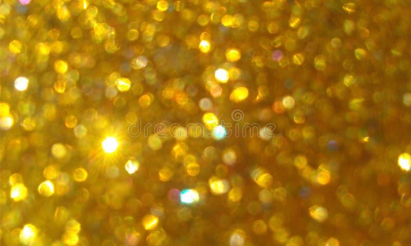 Złota błyskotliwość textured tło, Jaskrawa piękna olśniewająca złota błyskotliwość zdjęcie royalty free
