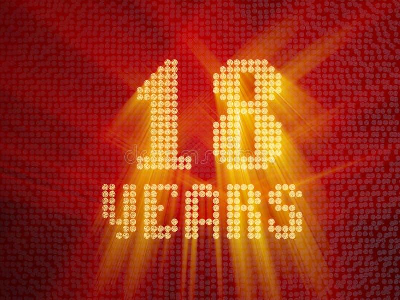 Złota liczba osiemnaście rok 3 d czynią ilustracji