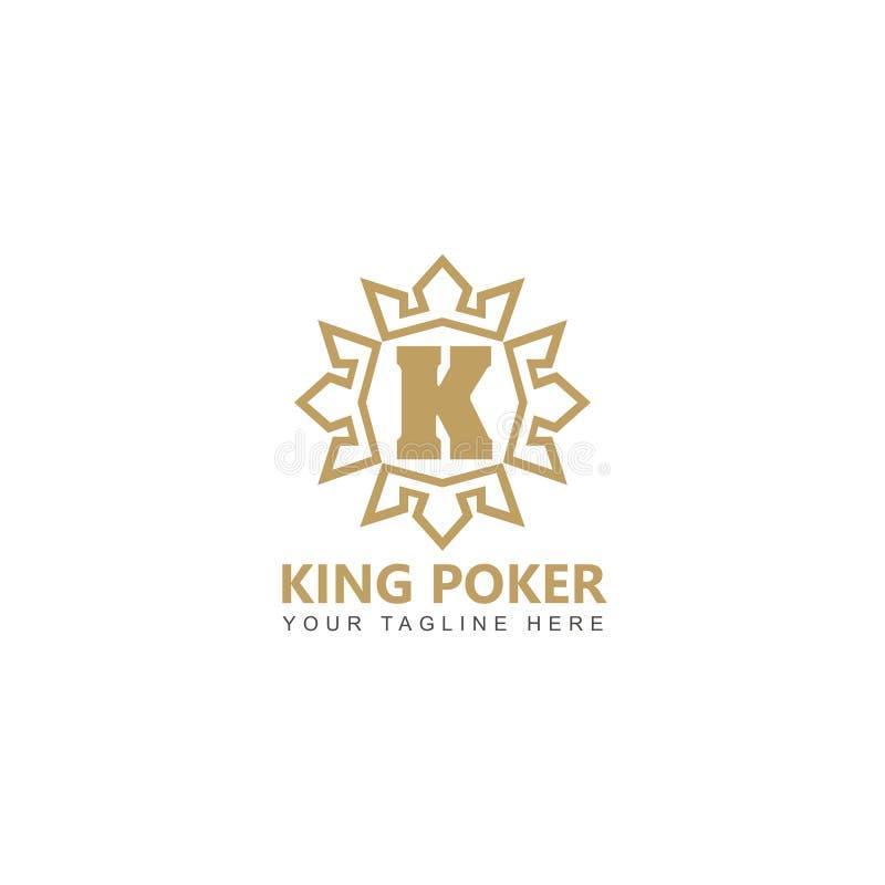 Złoty królewiątko grzebaka logo projekta wektor ilustracja wektor