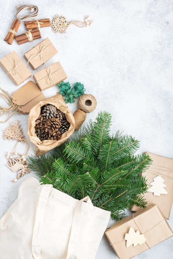 Zéro déchets éco Noël image stock