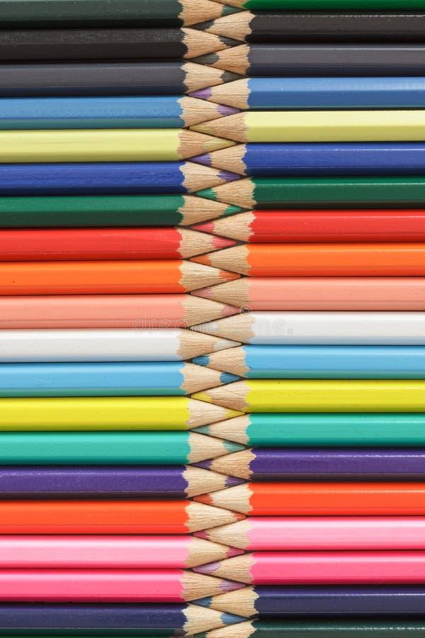 Zíper colorido do lápis do arco-íris Conceito da educa??o, da faculdade criadora e da arte fotos de stock royalty free