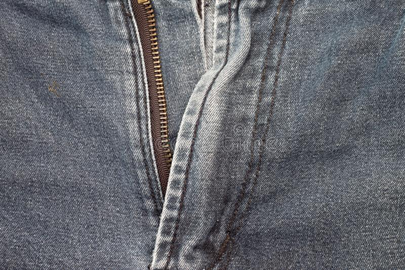 Zíper em calças de brim foto de stock royalty free