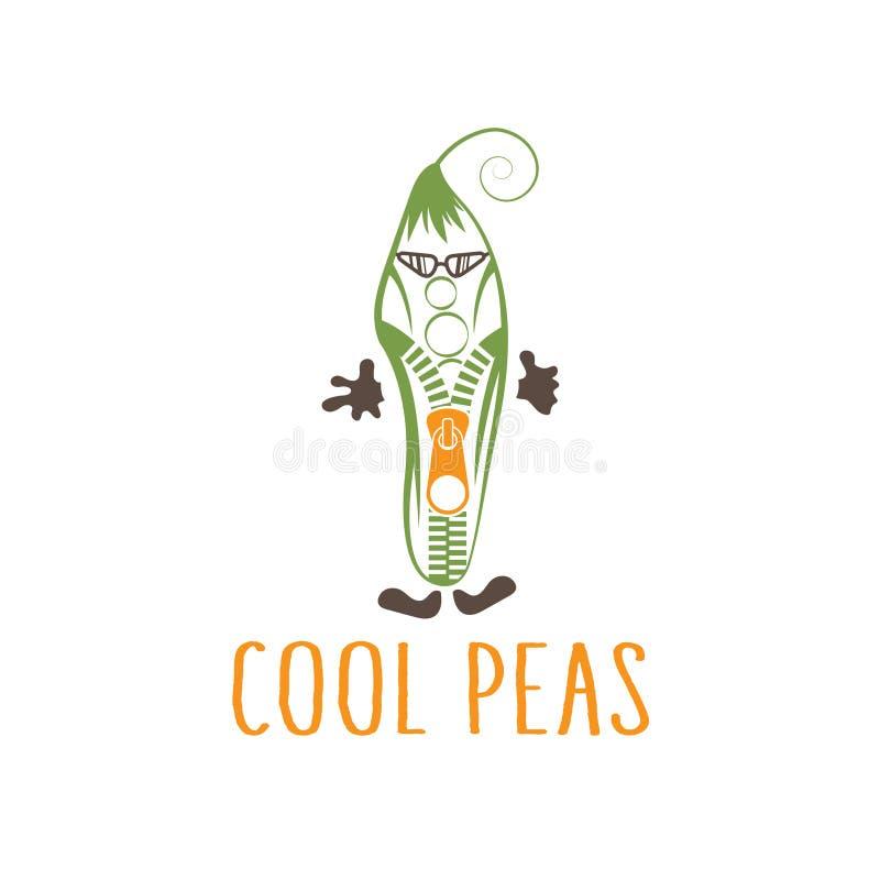 Zíper no conceito do vegetariano dos óculos de sol ilustração stock