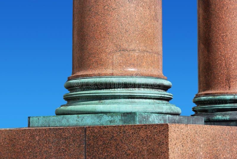 Zócalo de la columna fotografía de archivo