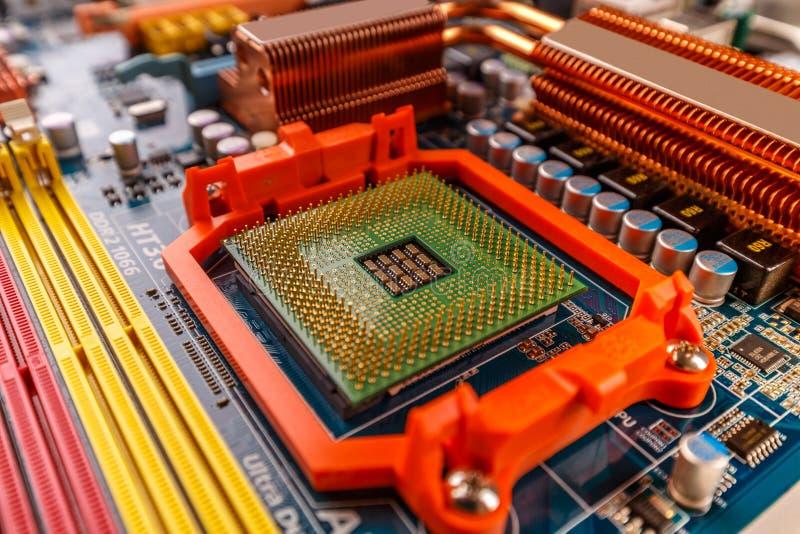 Zócalo del procesador de la CPU fotos de archivo