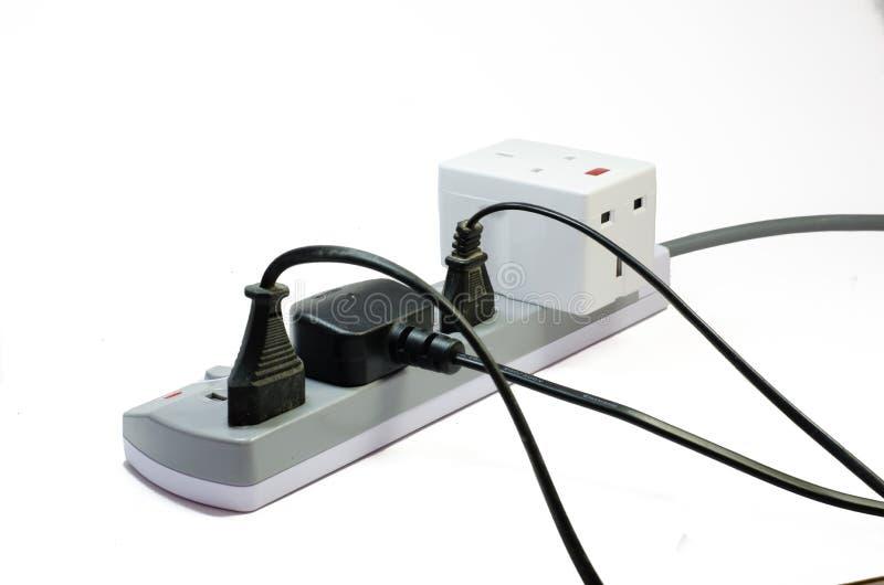 Zócalo eléctrico de tres vías fotos de archivo libres de regalías