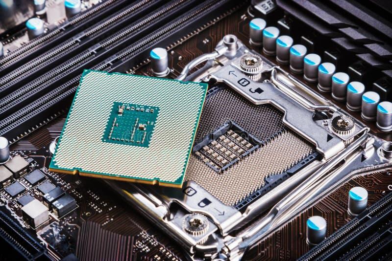 Zócalo y procesador de la CPU imágenes de archivo libres de regalías