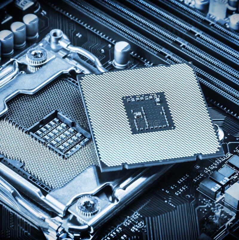 Zócalo y procesador de la CPU fotografía de archivo libre de regalías