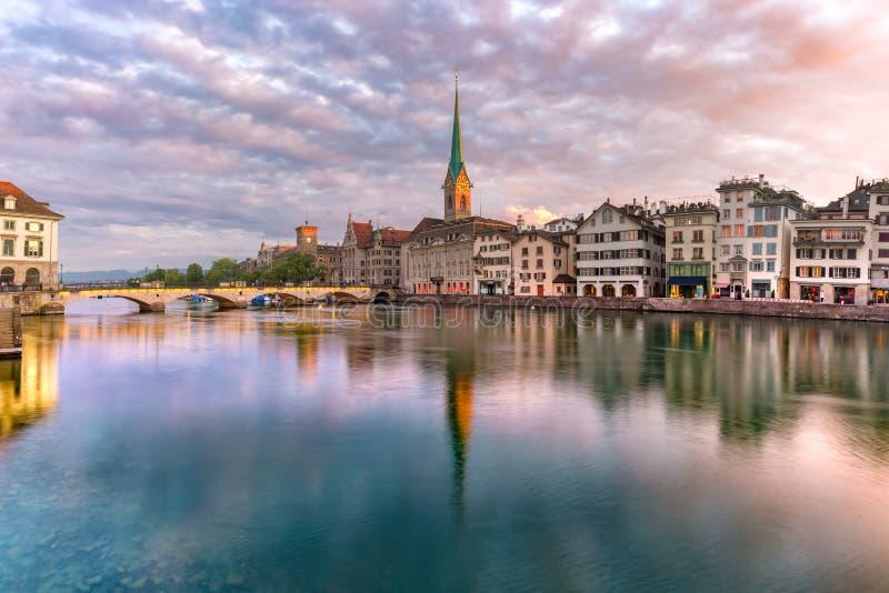 Zürich, de grootste stad in Zwitserland royalty-vrije stock afbeelding