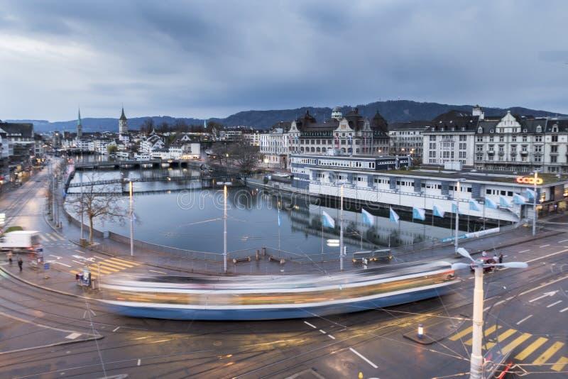 Zürich in de ochtend na douche stock fotografie