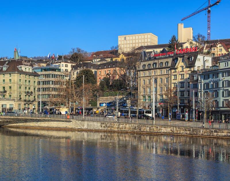 Zürich in der Winterzeit stockfoto