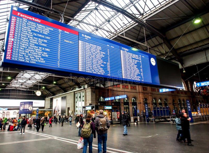 Zürich-HBbahnstation stockbild