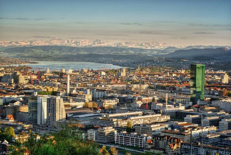 Zürich HDR lizenzfreie stockbilder