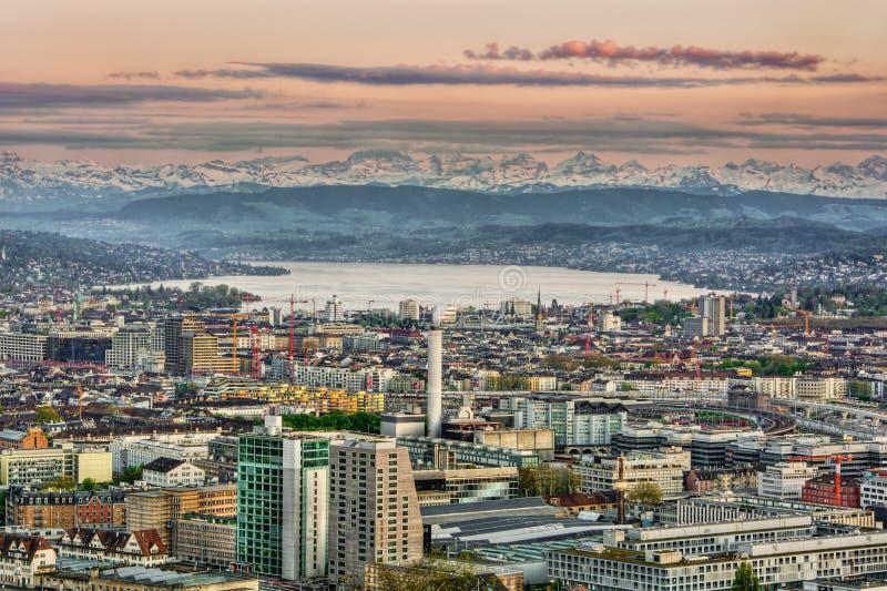 Zürich HDR stockbilder