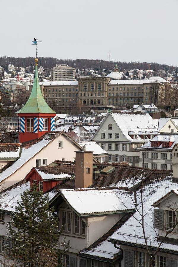 Zürich im Winter lizenzfreie stockfotografie