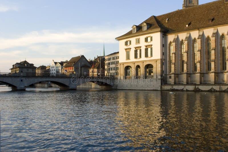 Zürich - Limmat royalty-vrije stock afbeelding