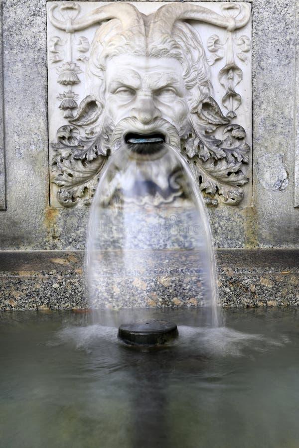 Zürich: Rebecca Fountain the head of a faun stock photo