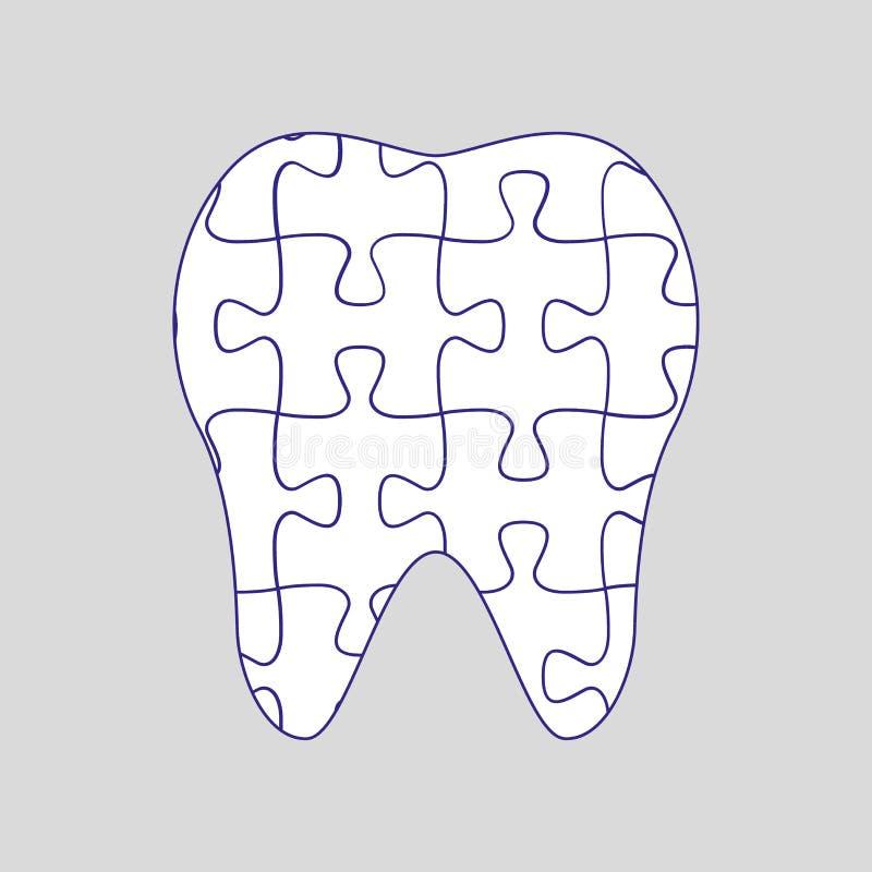 Ząb łamigłówka ilustracja wektor