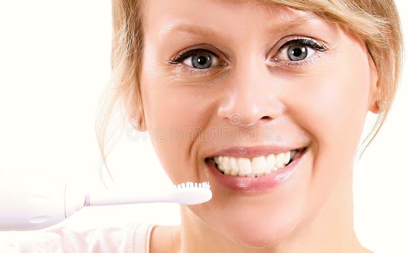 ząb czesać kobiety obraz royalty free