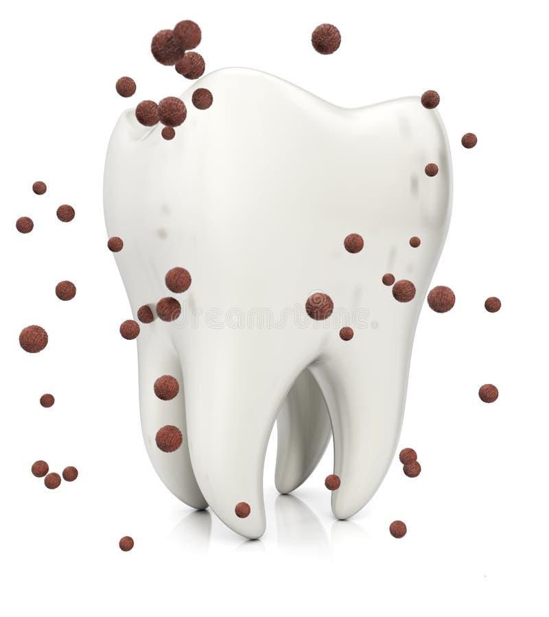 Ząb i zarazki ilustracji