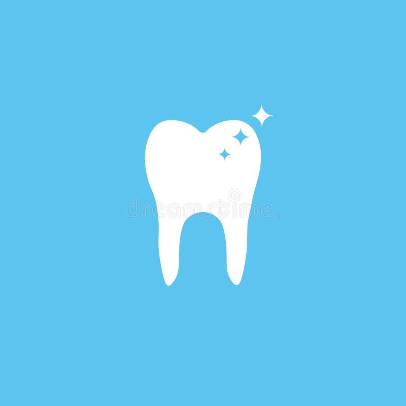 Ząb ikona Płaski projekta styl Ząb prosta sylwetka Nowożytna, minimalistyczna ikona w eleganckich kolorach, royalty ilustracja