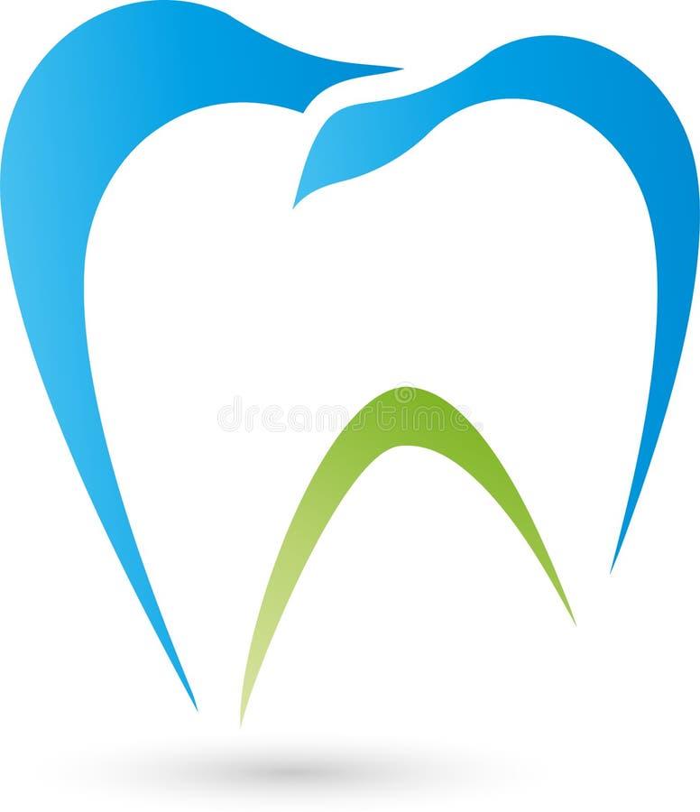 Ząb, logo, zębu i dentysty ilustracja wektor