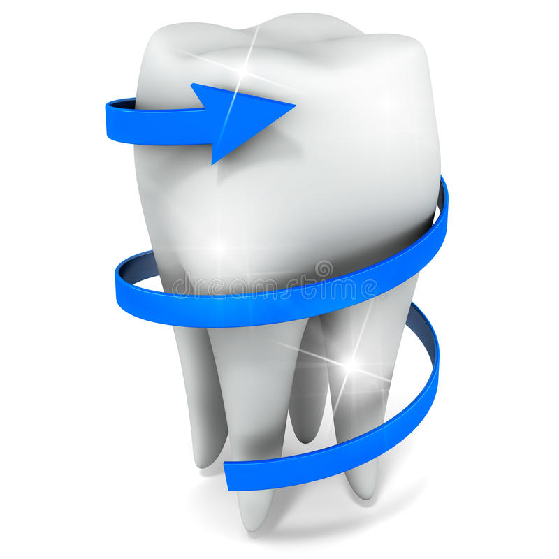Ząb opieka ilustracji